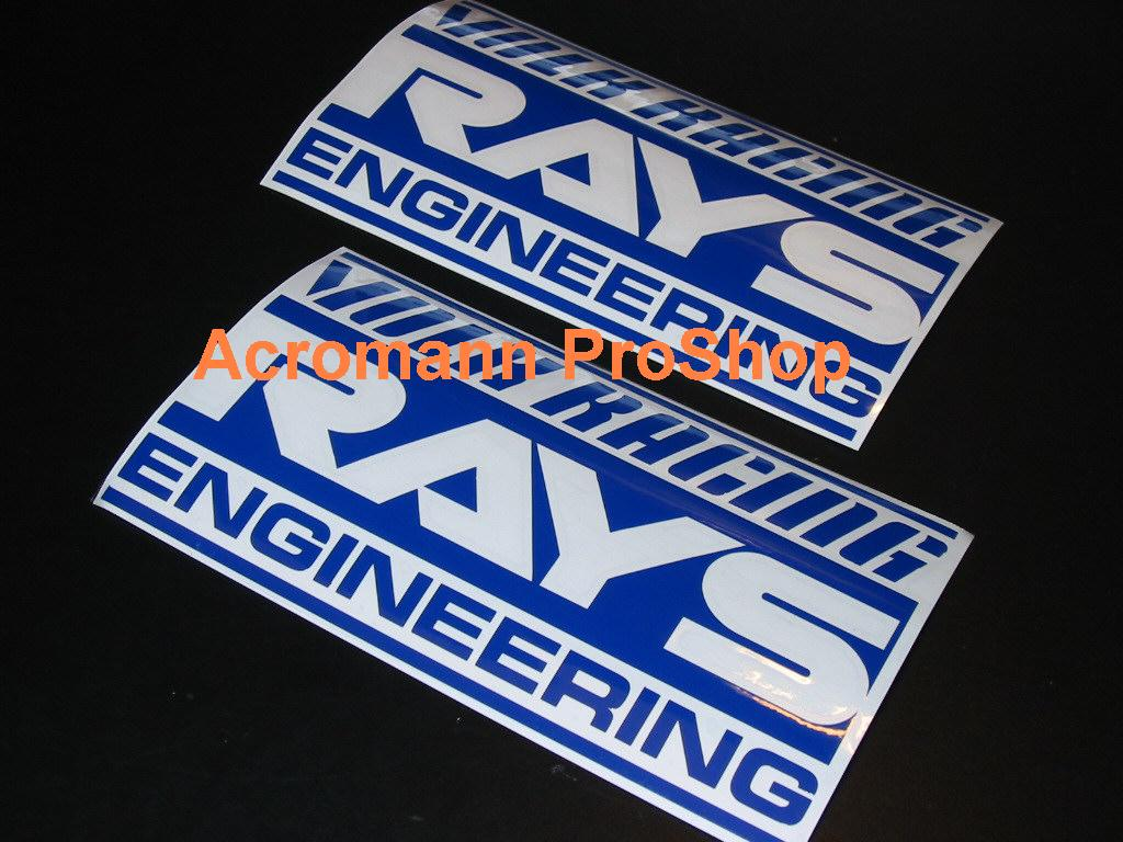 VOLK Racing RAYS Engineering 6inch Decal x 2 pcs